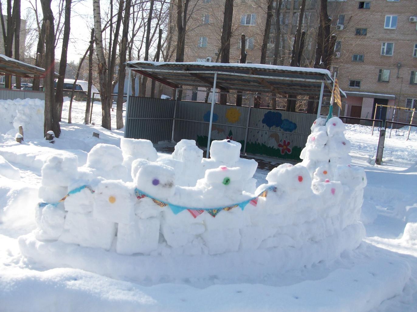 схема снежных построек